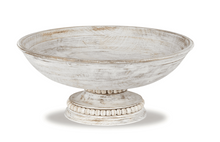 Load image into Gallery viewer, Mud Pie Beaded Wood Pedestal Bowl