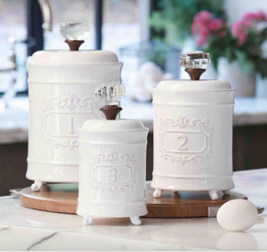 Mud Pie Circa Canister Set