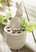 Load image into Gallery viewer, Mud Pie Bunny Pot Vase