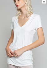 Load image into Gallery viewer, POL Ivory VNeck Tee