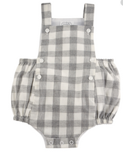 Load image into Gallery viewer, Mud Pie Grey Gingham Bubble