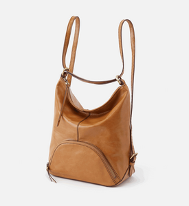 HOBO Verse Honey Leather Bucket Backpack Honey
