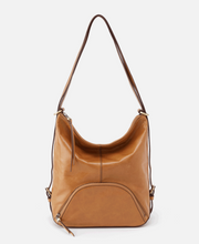 Load image into Gallery viewer, HOBO Verse Honey Leather Bucket Backpack Honey
