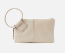 Load image into Gallery viewer, HOBO Sable Wristlet Clutch Metallic Sandshell