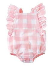 Load image into Gallery viewer, Mud Pie Gingham Ruffle Sunsuit