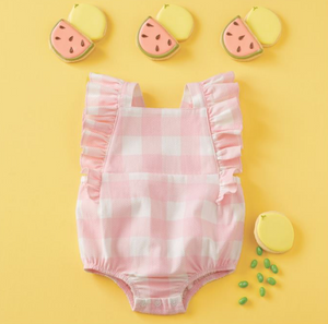 Mud Pie Gingham Ruffle Sunsuit