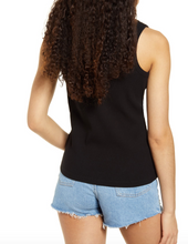 Load image into Gallery viewer, Articles of Society Black Split Neck Ribbed Tank