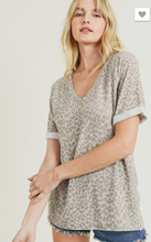 Load image into Gallery viewer, Jodifl Taupe Cheetah Top