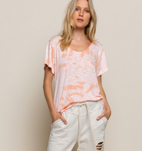 Load image into Gallery viewer, POL Night Drop Peachy Pink V Neck Top