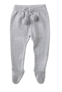 Mud Pie Footed Leggings Gray