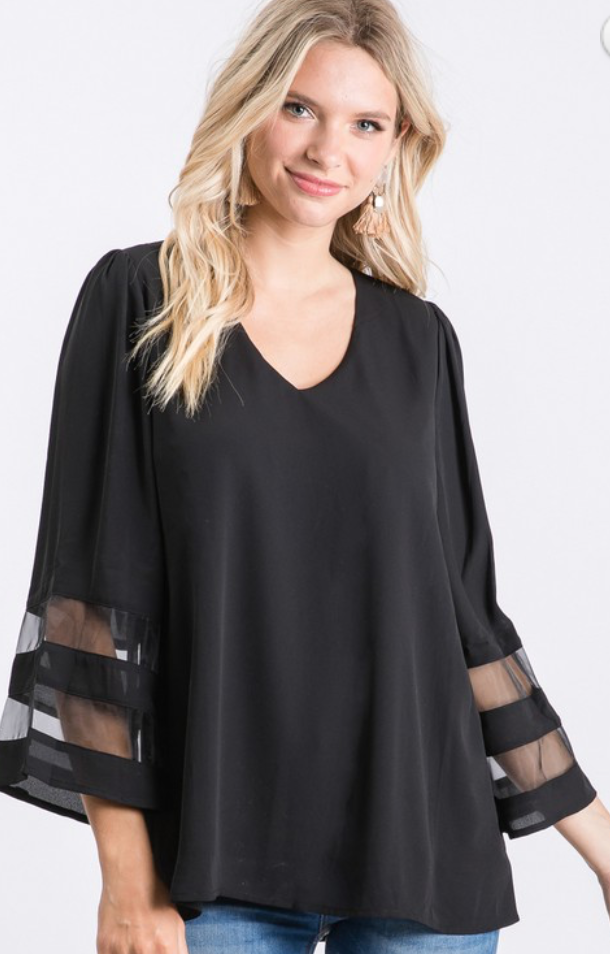 Jodifl Black Blouse