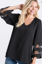 Load image into Gallery viewer, Jodifl Black Blouse