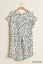 Load image into Gallery viewer, Umgee V Neck Dalmatian Off White Dress