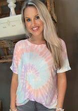 Load image into Gallery viewer, Trend Notes Multi Tie Dye Butter Soft Top