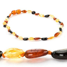 Load image into Gallery viewer, Powell's Owls Amber Teething Necklace Multicolor Beans