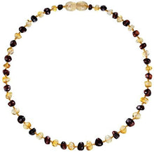 Load image into Gallery viewer, Powell's Owls Amber Teething Necklace Honey/Cherry Mix