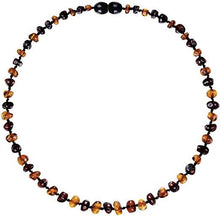Load image into Gallery viewer, Powell's Owls Amber Teething Necklace Cognac/Cherry Mix