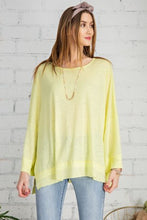 Load image into Gallery viewer, Easel Wide Sleeve Top Neon Yellow