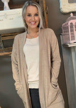 Load image into Gallery viewer, Cherish Brushed Sweater Cardigan Taupe