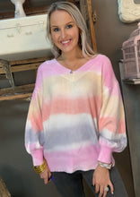 Load image into Gallery viewer, Adora Pink Tye Dye Sweater