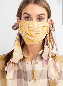 Entro Braided Mask Mustard