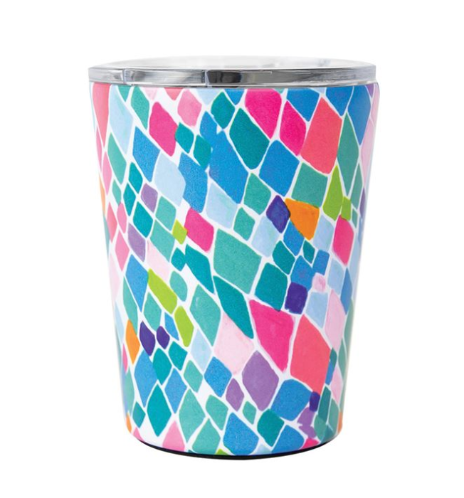 Mary Square Stainless Coffee Tumbler Santorini