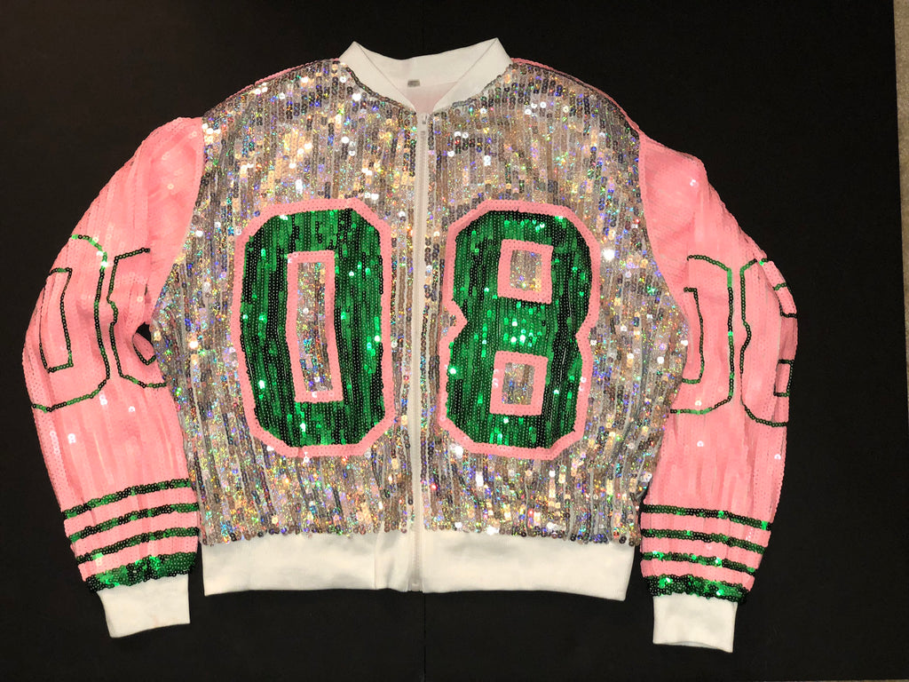 Pink, Green and Silver '08 Sequins Jacket