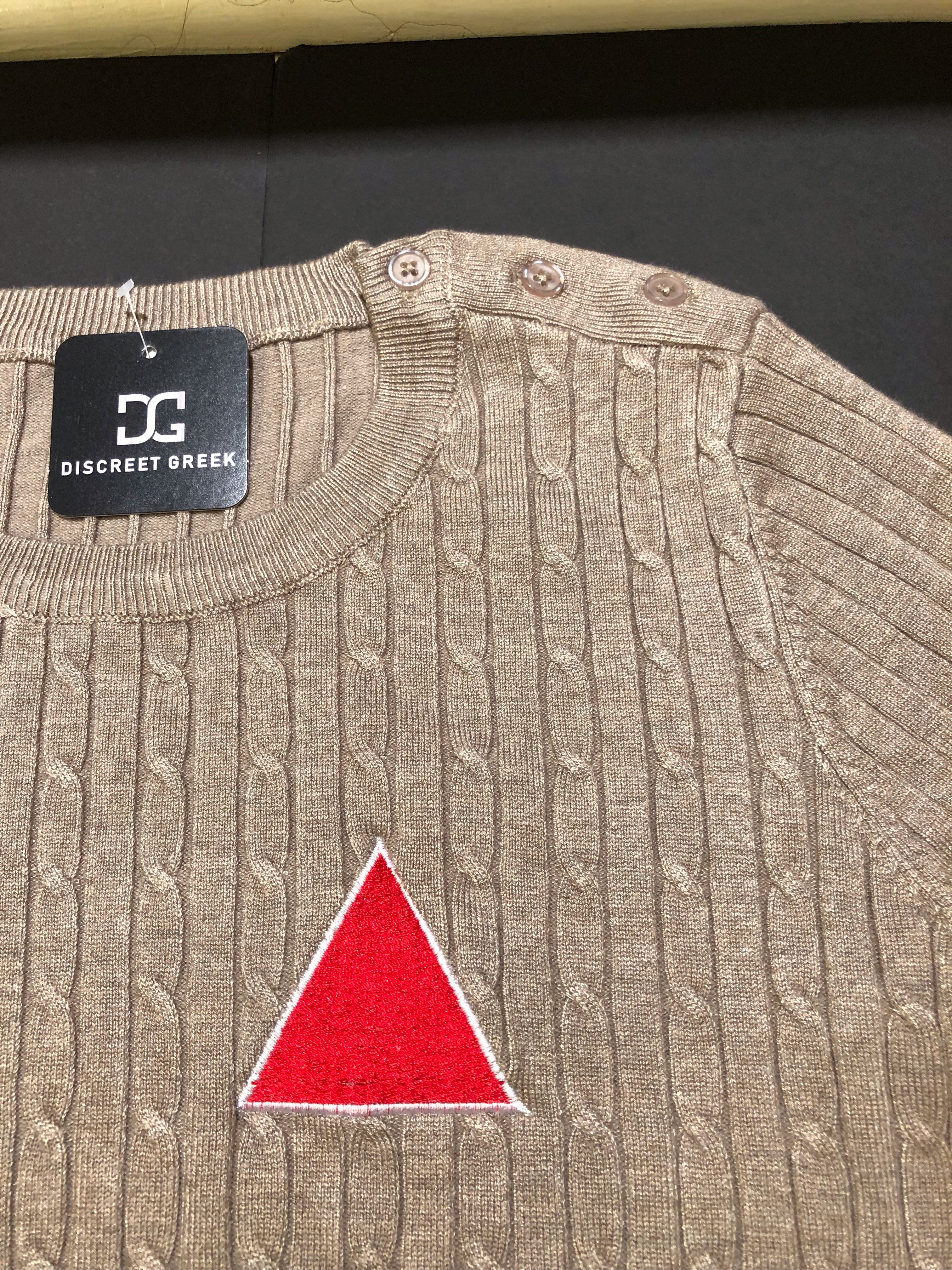 Brown Sweater w/ Red Pyramid