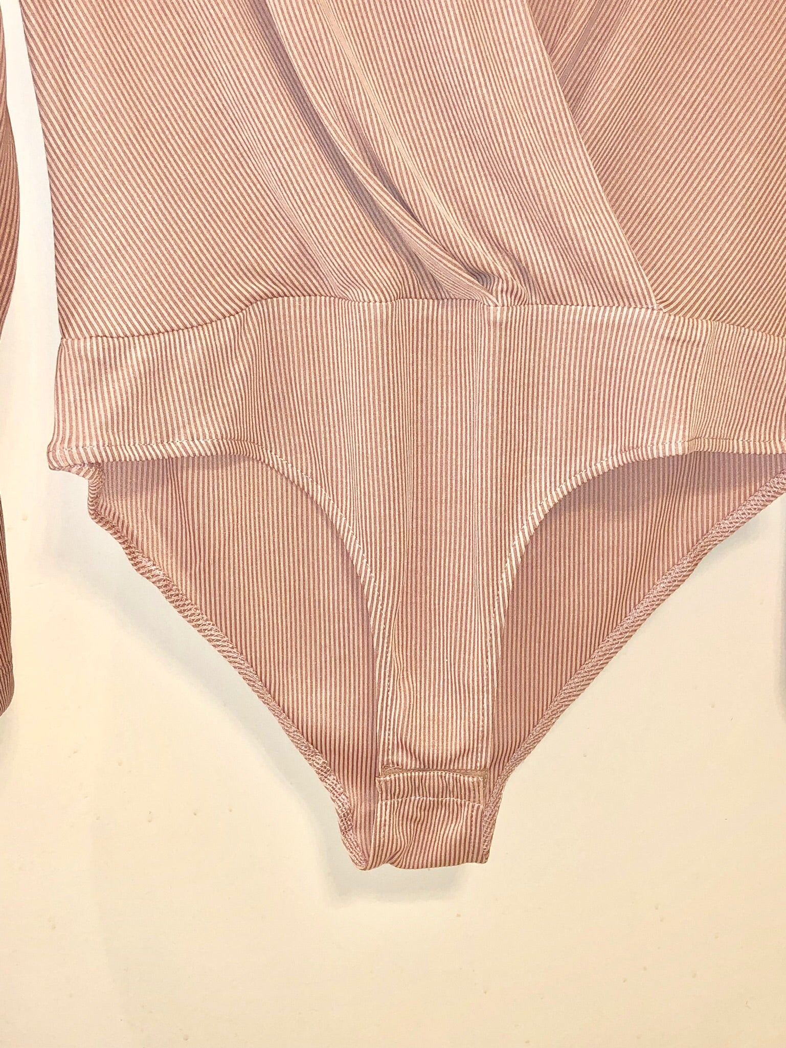 Pink Pin-Striped Bodysuit