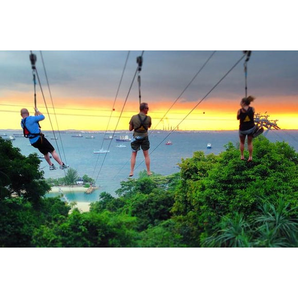 Mega Adventure Park Zipline on Sentosa Island