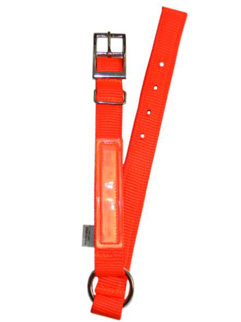 Safety Orange Reflective Dog Collar