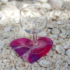 Resin Small Heart Coaster #802