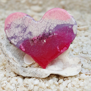 Resin Small Heart Coaster #804