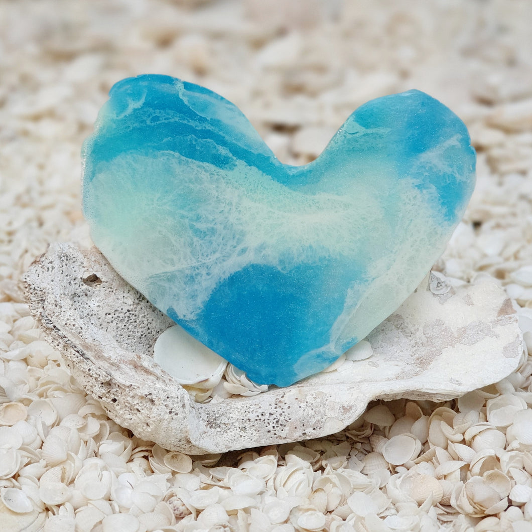 Resin Small Heart Coaster #8010