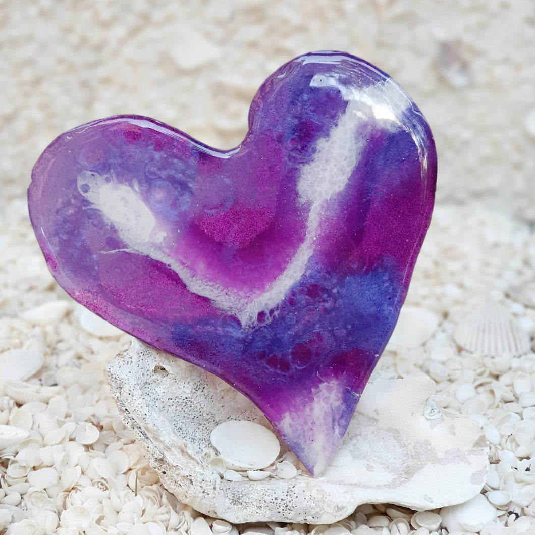 Resin Medium Heart Coaster #8204