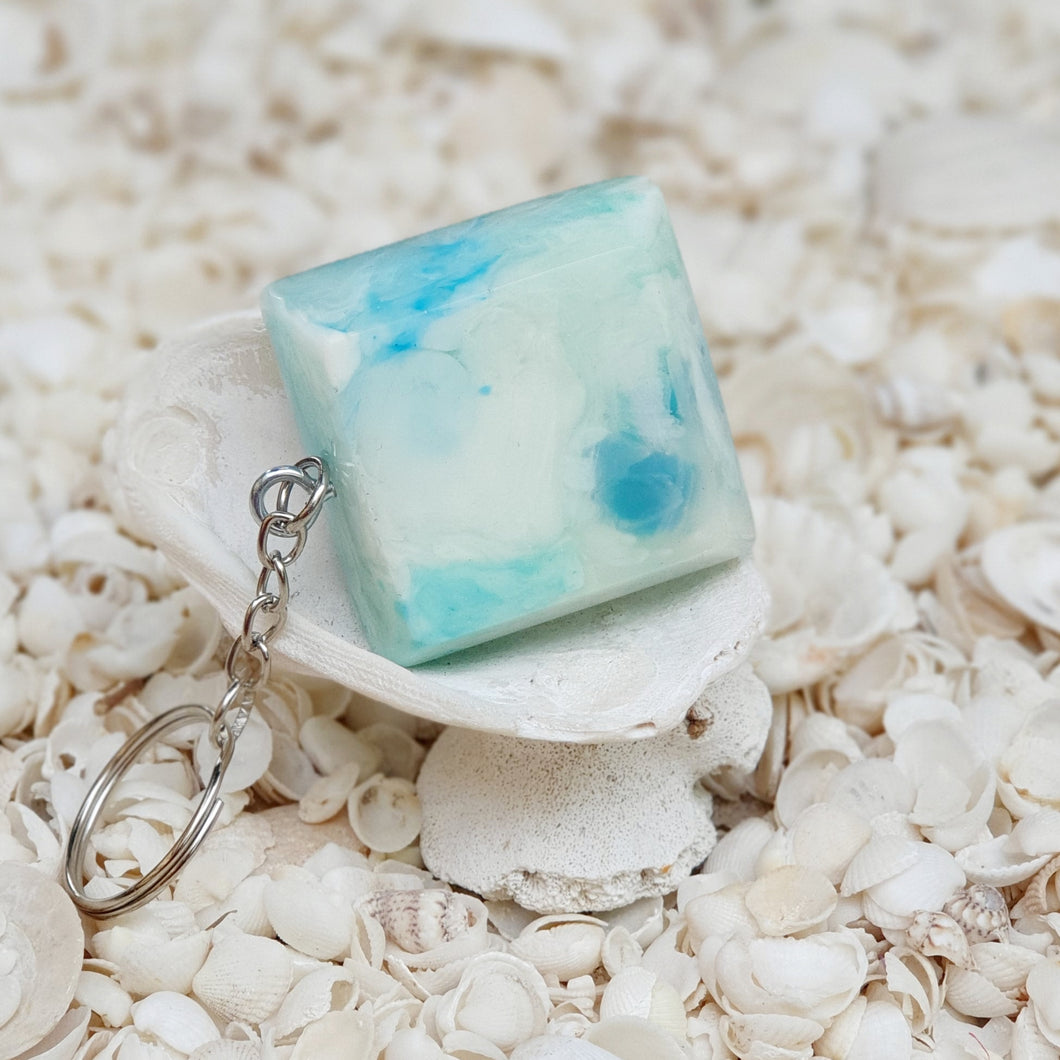 Resin Square Key Ring Keychain #5251
