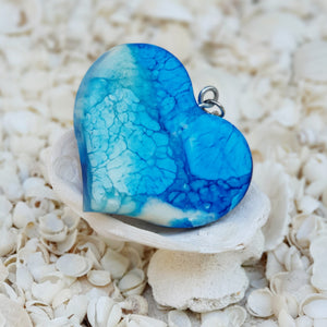 Resin Heart Key Ring Keychain #5009