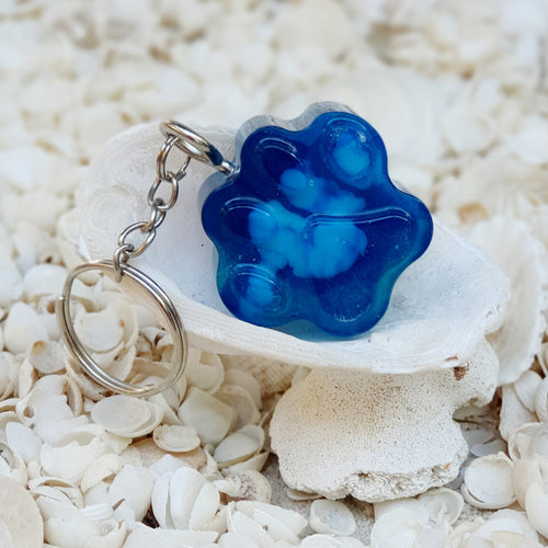 Resin Dog Paw Key Ring Keychain #5451