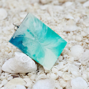 Resin Rectangle Key Ring Keychain #5353