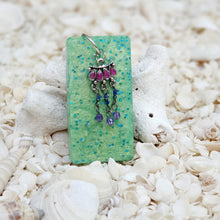 Resin Rectangle Key Ring Keychain #5357