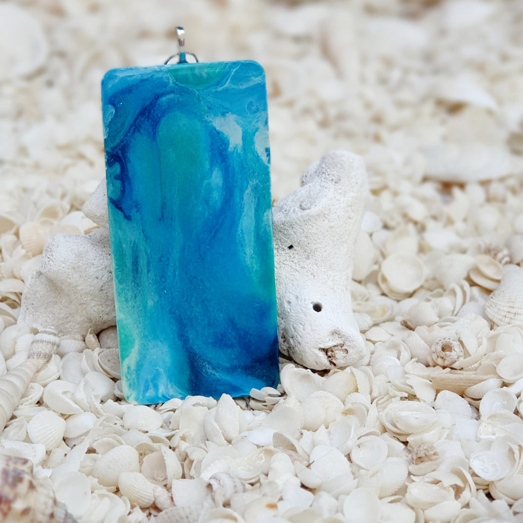 Resin Rectangle Key Ring Keychain #5358