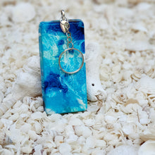Resin Rectangle Key Ring Keychain #5359