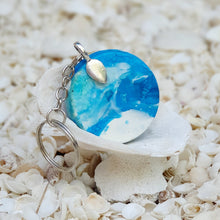 Resin Round Key Ring Keychain #5652