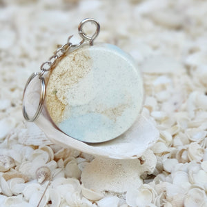 Resin Round Key Ring Keychain #5656