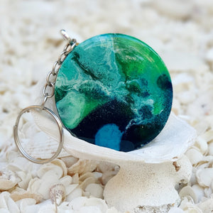 Resin Round Key Ring Keychain #5657