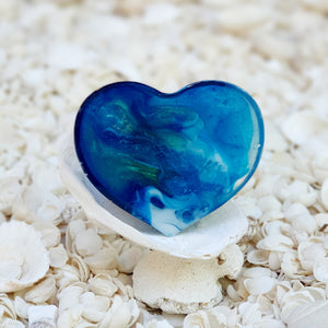 Resin Heart Fridge Magnet #20016