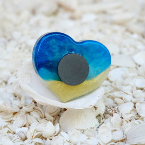 Resin Heart Fridge Magnet #20019
