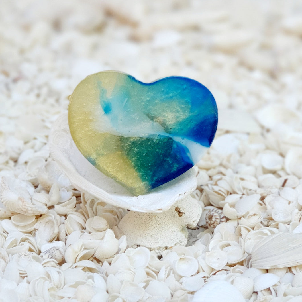 Resin Heart Fridge Magnet #20021