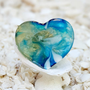 Resin Heart Fridge Magnet #20023