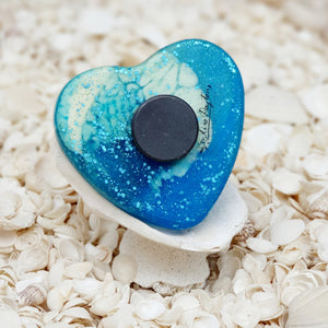 Resin Heart Fridge Magnet #20026